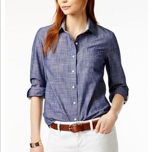 Tommy Hilfiger Pearl Snap Up Plaid Utility Shirt